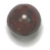Semi-Precious 10mm Round Poppy Jasper